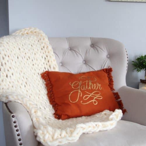 chunky blanket // diy chunky // chunky knits // chunky knit blanket // diy chunky knit blanket // chunky knit throw