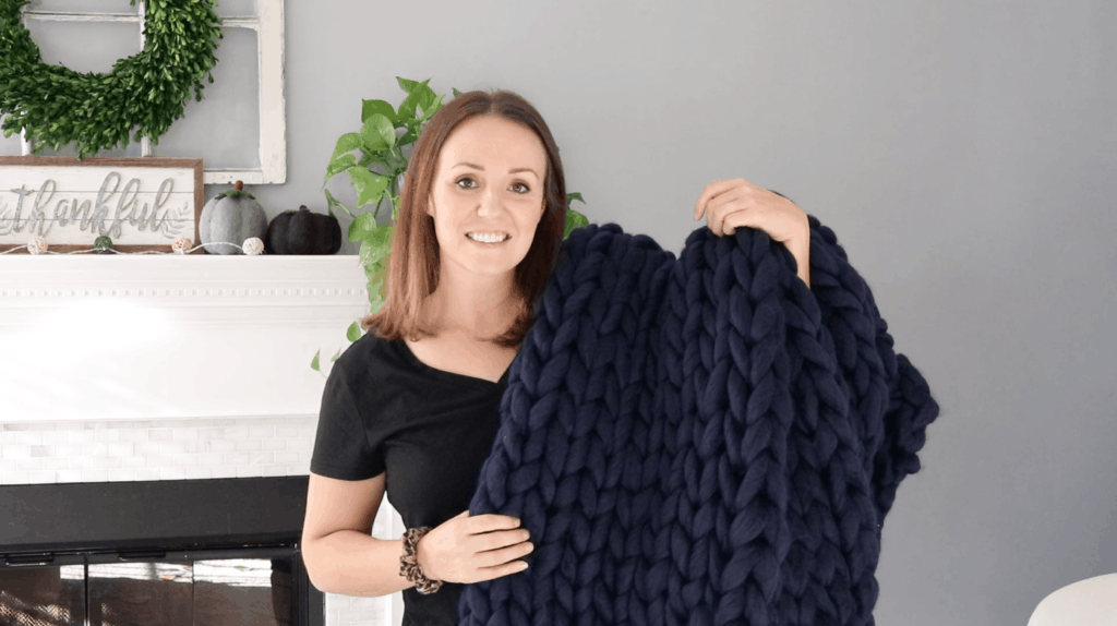 diy chunky knit blanket