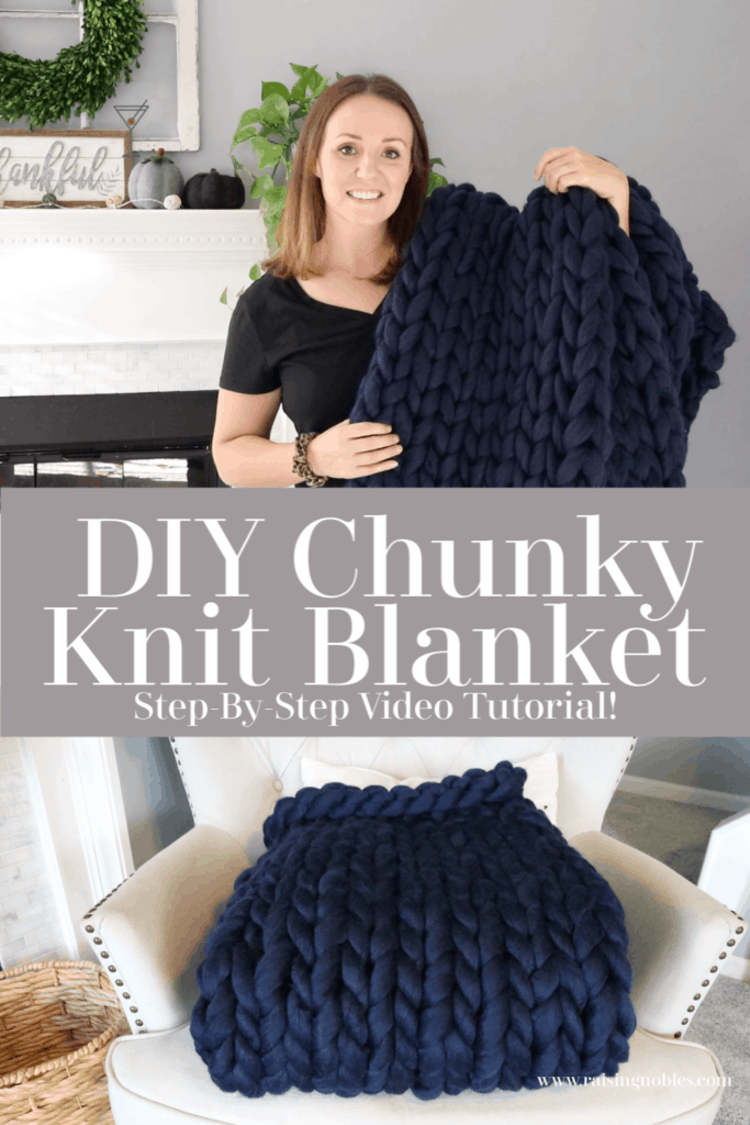 wool chunky knit blanket