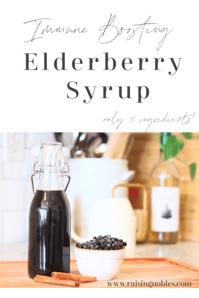 elderberry syrup bottle