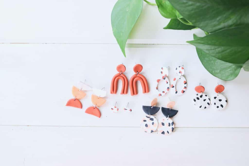 diy polymer clay earrings