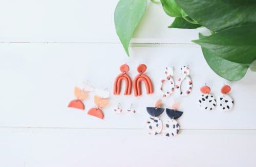 diy polymer clay earrings