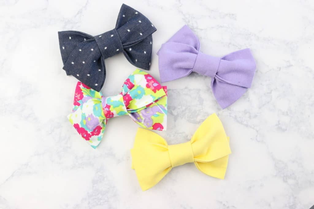 how to make a hair bow tutorial pattern