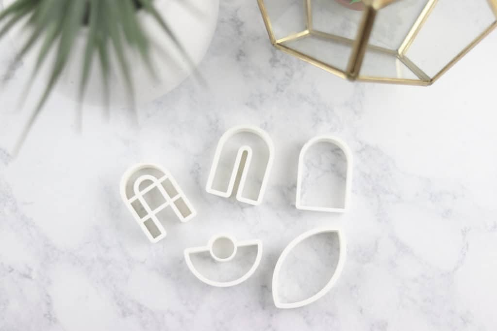polymer clay earring cutters