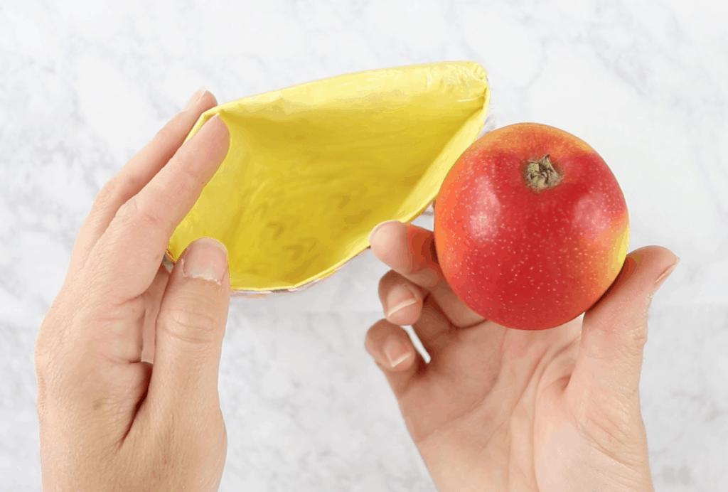 diy reusable bag with apple