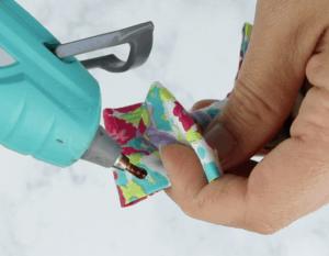 gluing fabric hair bow