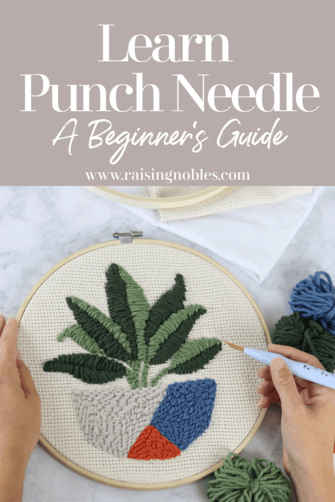 potted plant needle art