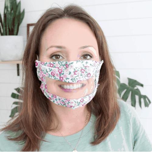 DIY Transparent Smile Face Mask | How To Make Vinyl Face Mask