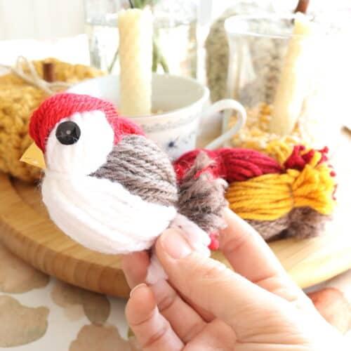 diy yarn bird tutorial