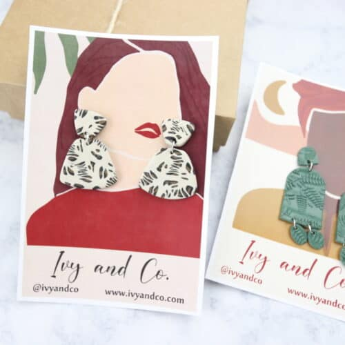 Earring Display Cards – Clay Earring Display Cards