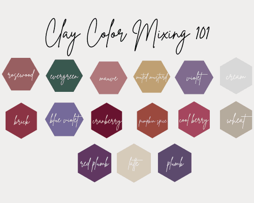 Clay Colors – How To Mix Custom Colors With Polymer Clay