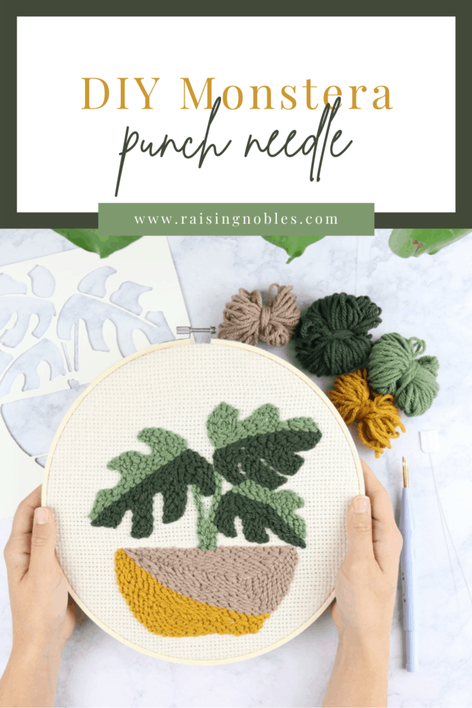 oxford punch needle monstera punch needle tutorial