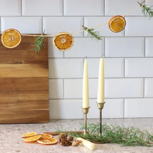 Dried Orange Garland With Rosemary