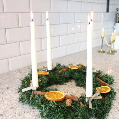 how to make advent wreath