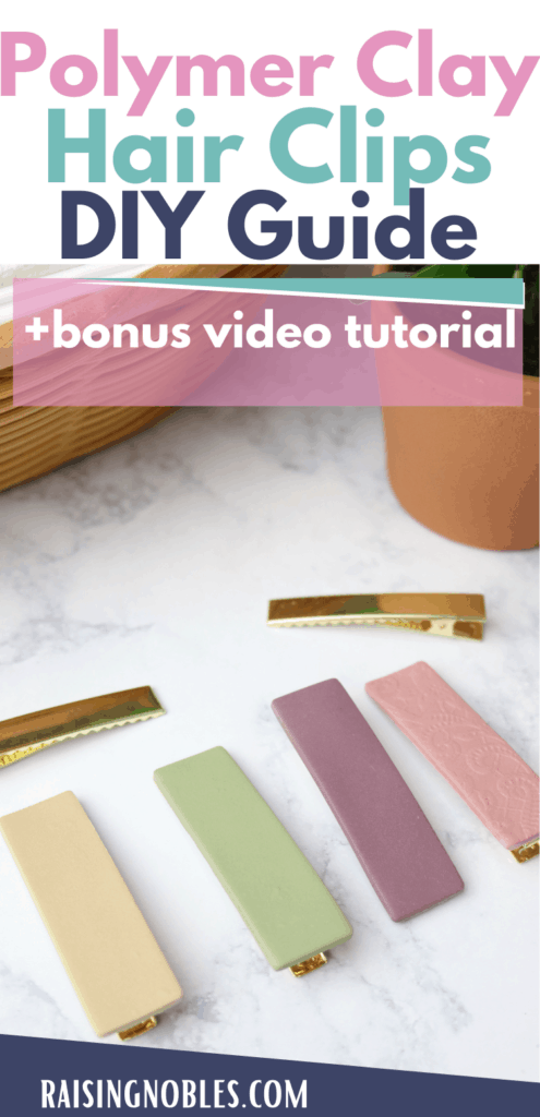 polymer clay hair clips tutorial
