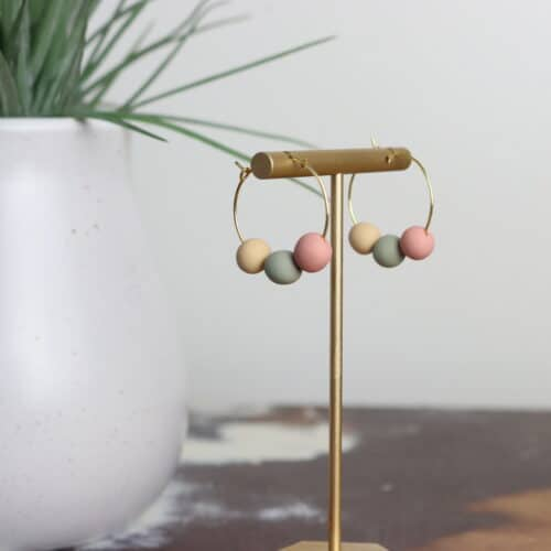 how to make polymer clay bead earrings