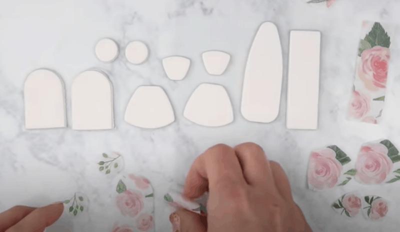 polymer clay napkin transfer technique