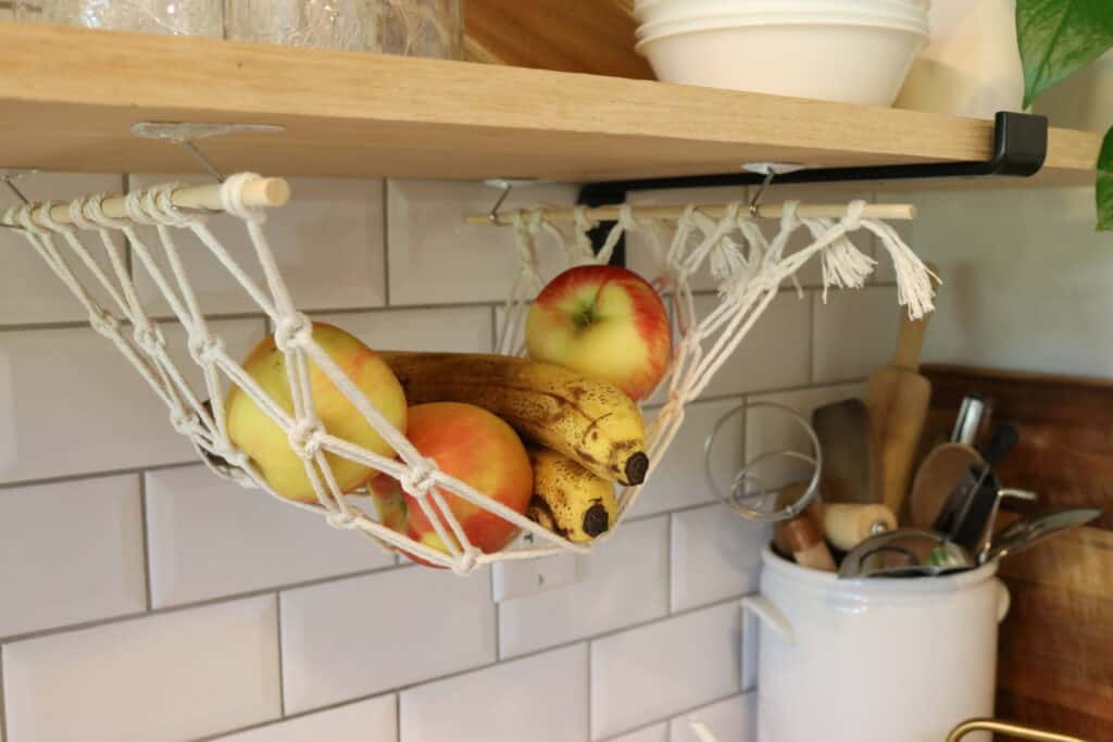 macrame fruit hammock